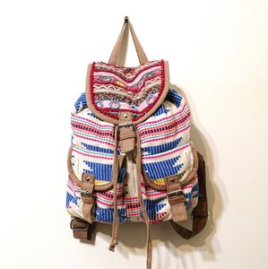 Call it Spring Boho Embroidered Backpack